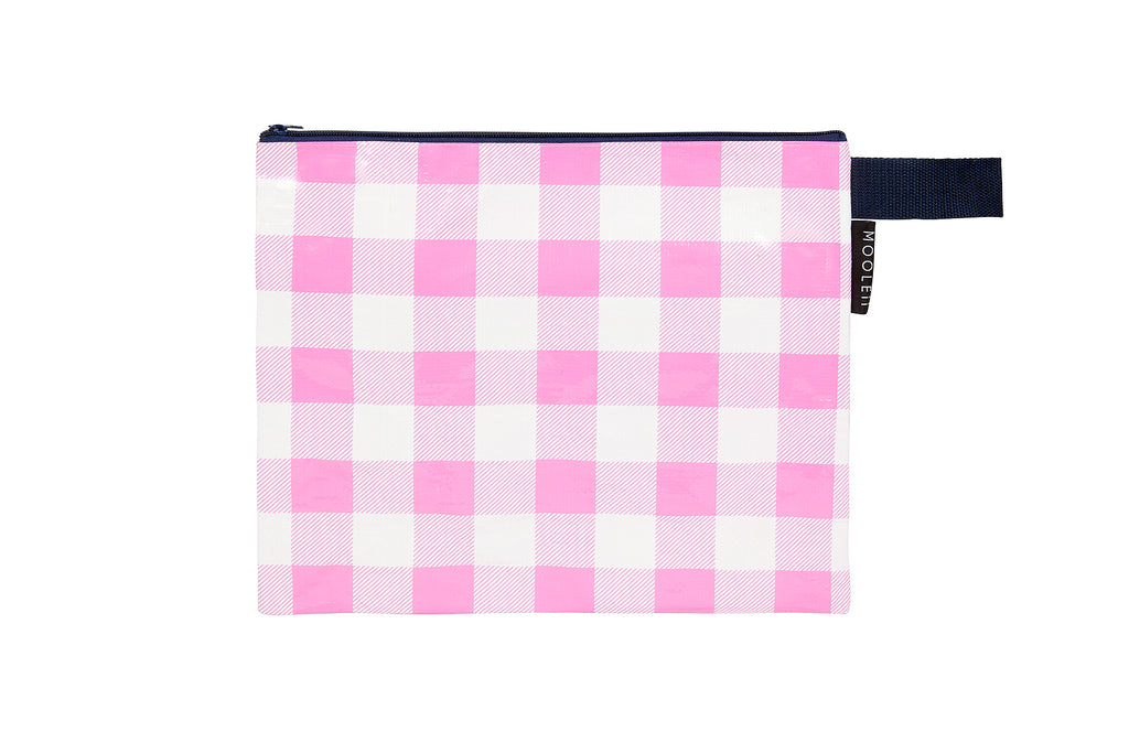 Gingham Wet Zip Pouch