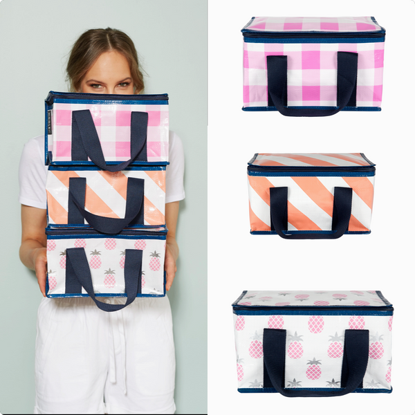 Gingham Lunch Tote