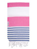 Watermelon / Denim Turkish Towel