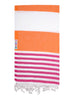 Fuchsia / Orange Turkish Towel