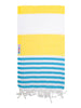 Daisy / Aqua Turkish Towel