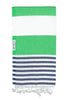 Navy / Apple Turkish Towel