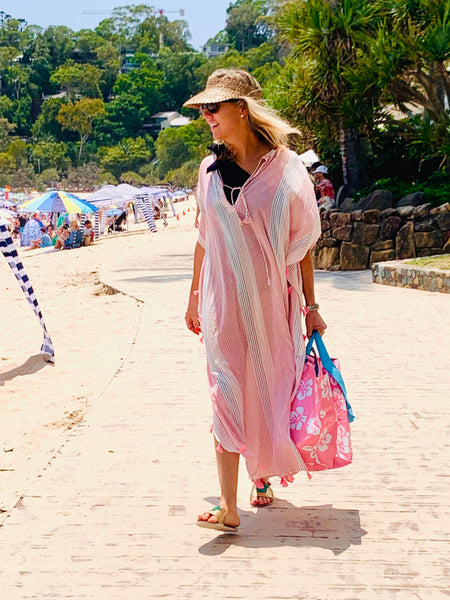 Blush Pink Tassel Kaftan (low stock)