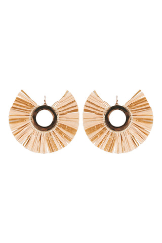 Sand Raffia Earrings