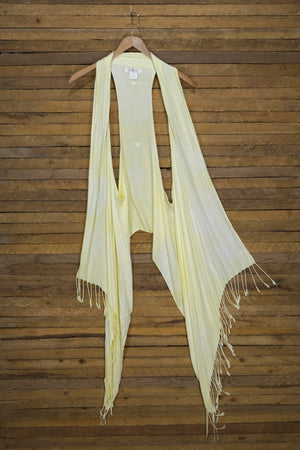 6-Way Scarf – Soft Yellow