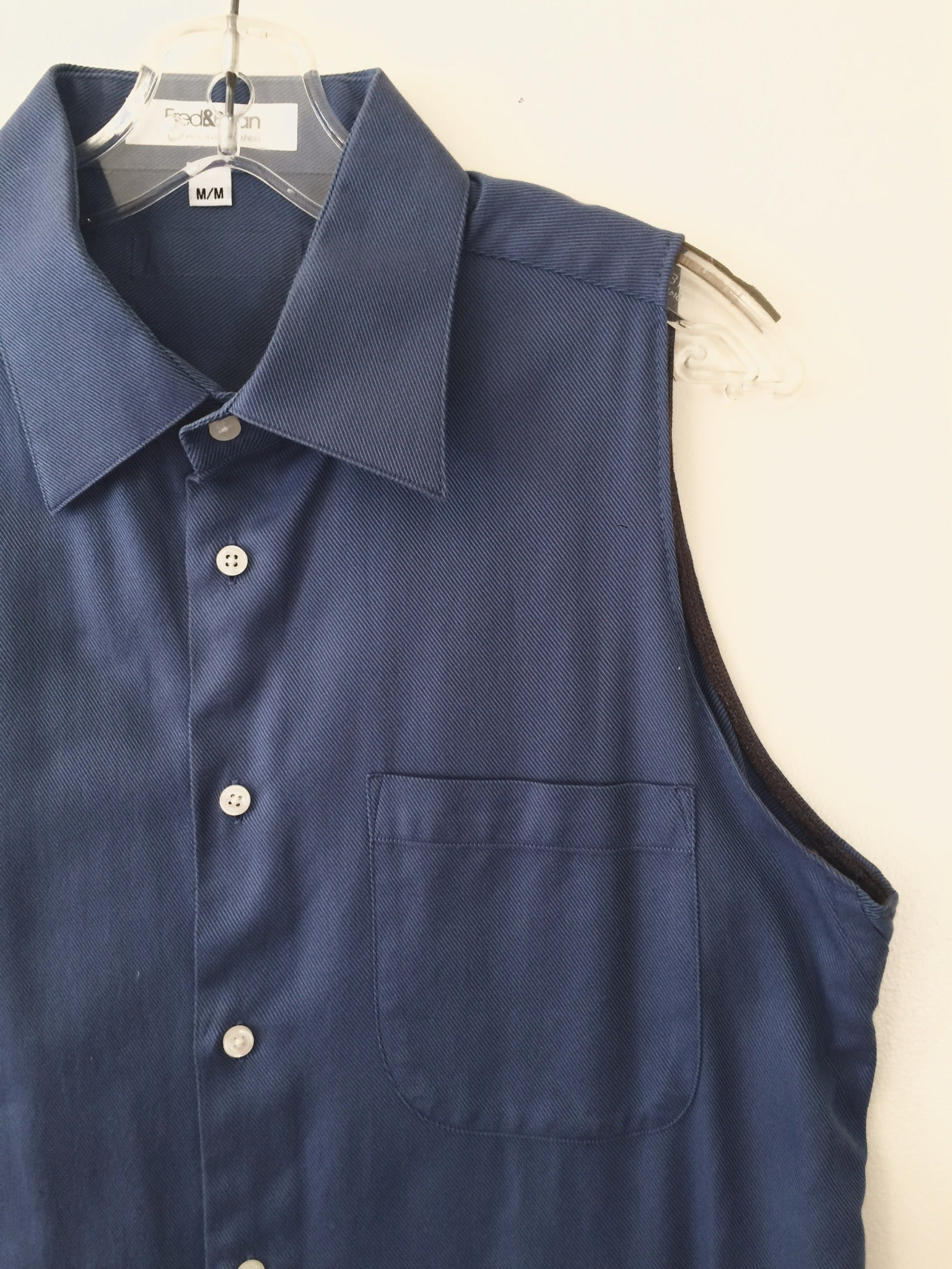 90's Blue Cotton Twill -M-