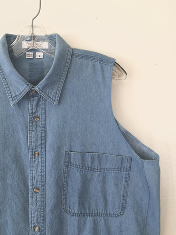 Vintage Blue Cotton Denim