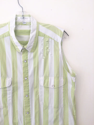 Vintage GAP Distressed Key Lime Stripe
