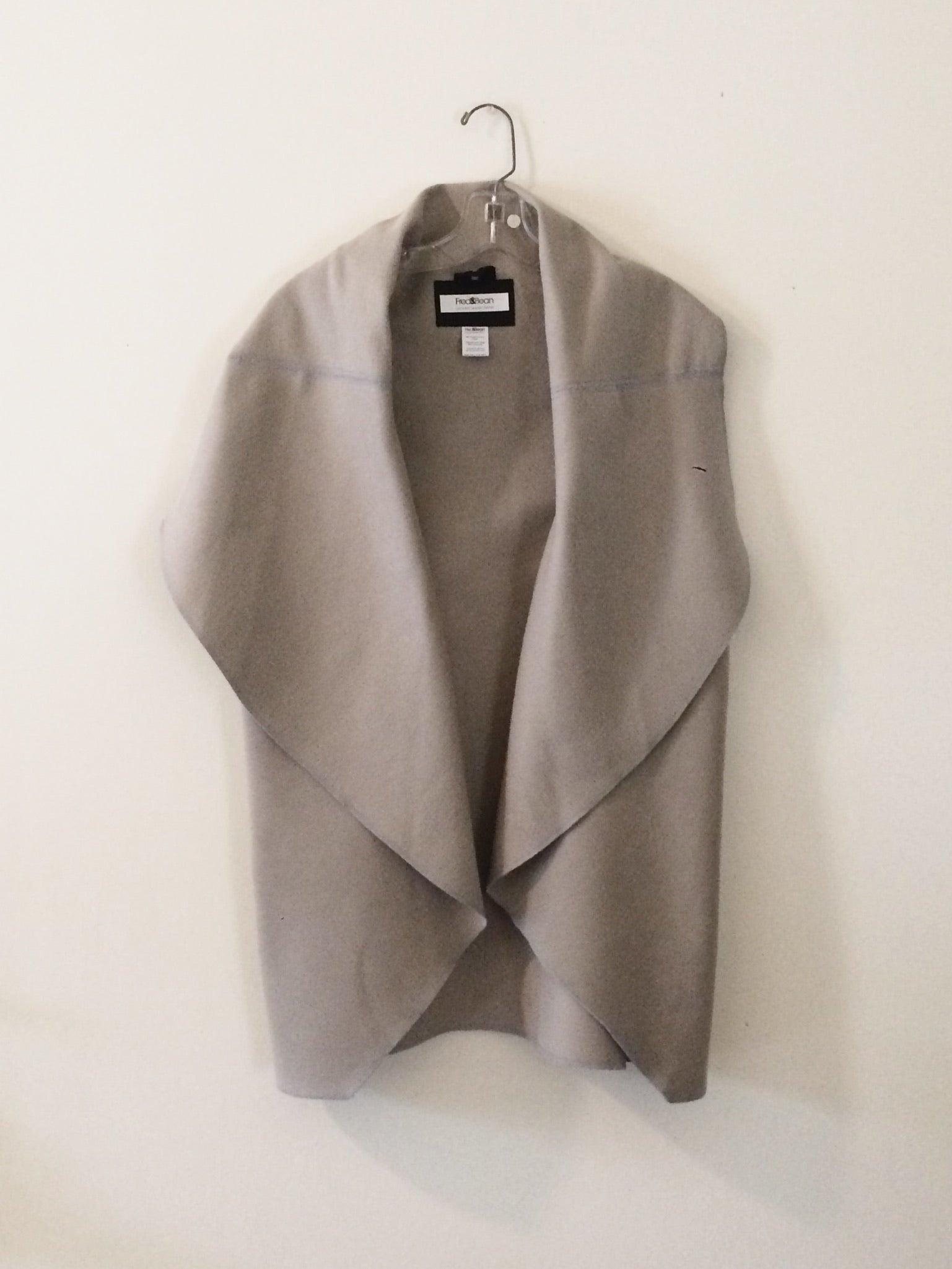 Blanket Vest - Short - Warm Smoke Grey - Brushed Cotton