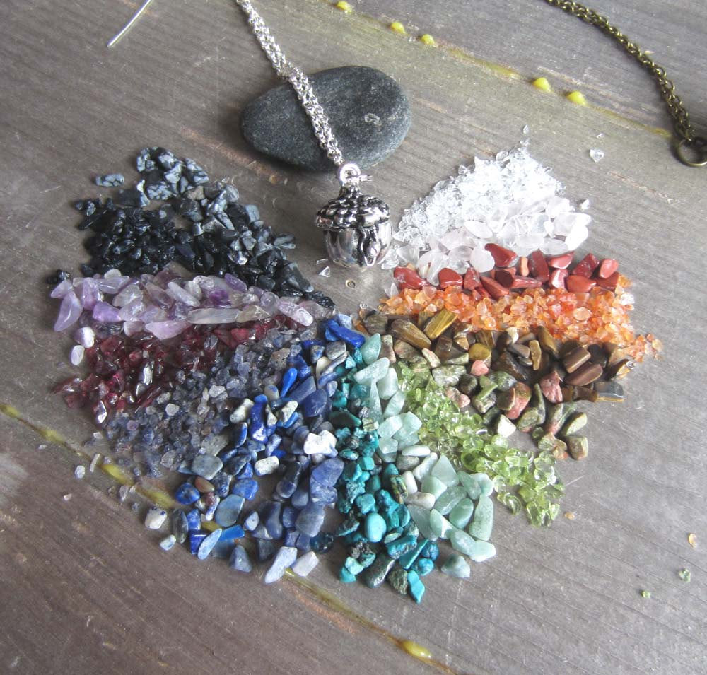 Choose your own Crystal Locket - Acorn