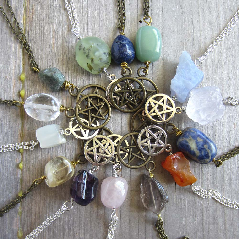 Pentacle Necklace - Choose your own crystal
