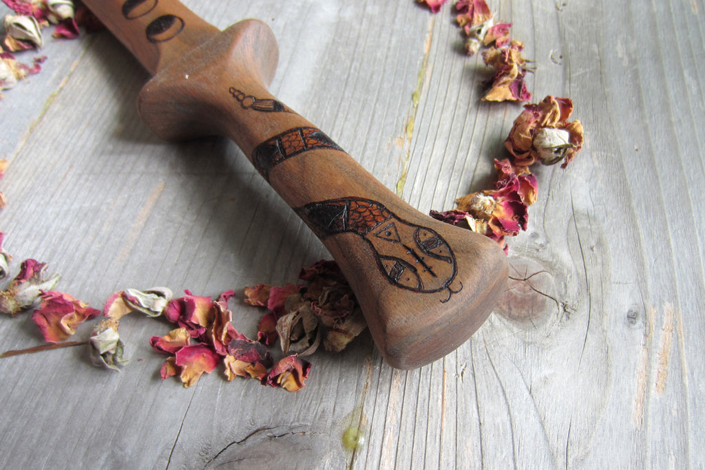 Athame - Wooden Handmade Ceremonial Athame