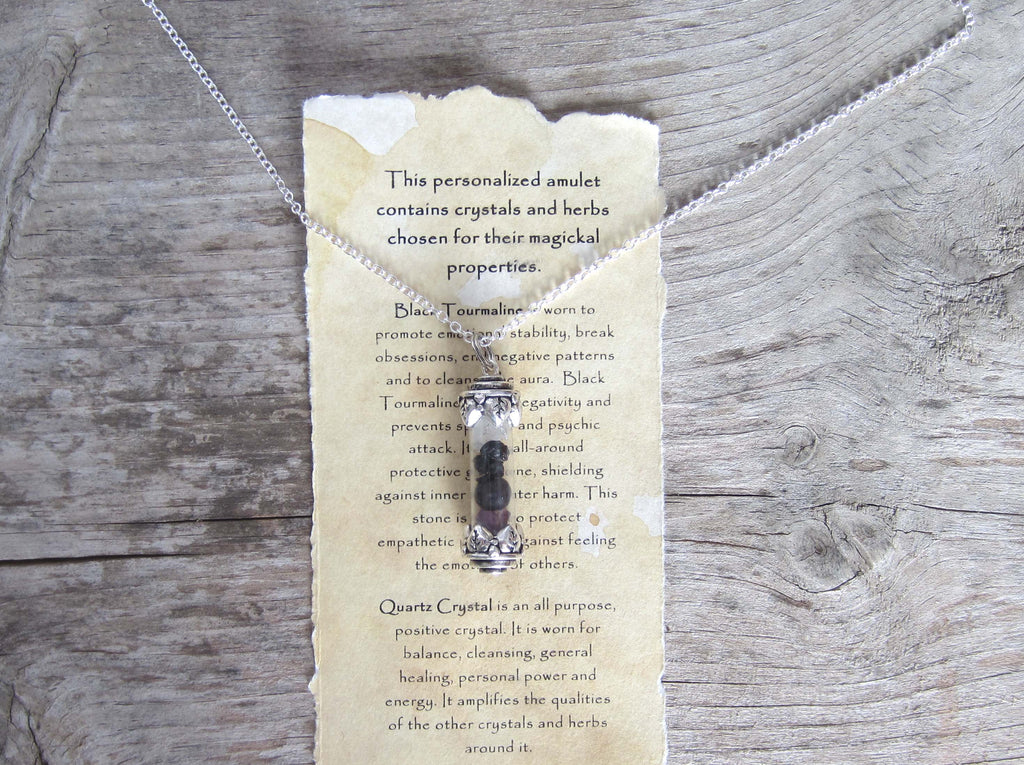 Create a Custom Witchcraft Amulet - Vial Pendant