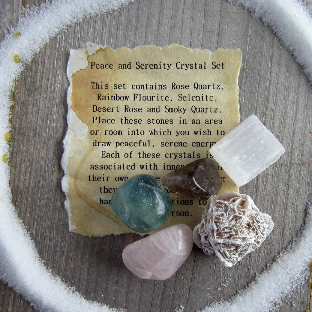 Peace and Serenity Crystal Set