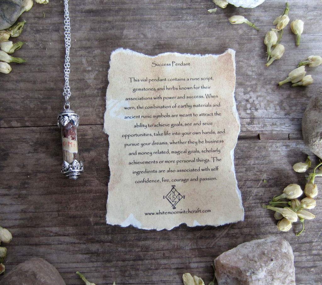 Success Spell Amulet - Vial Pendant