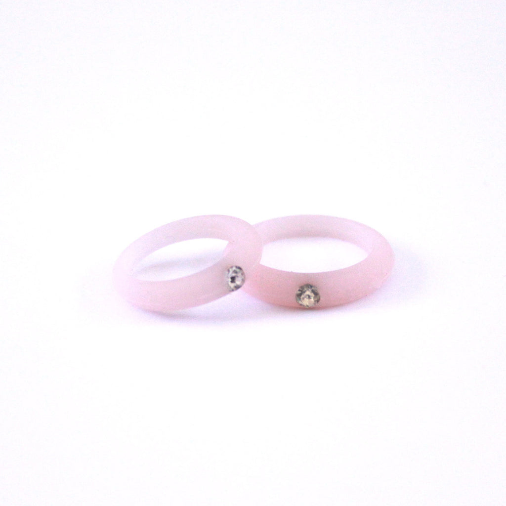 Women S Silicone Wedding Band With Rhinestone Safe And