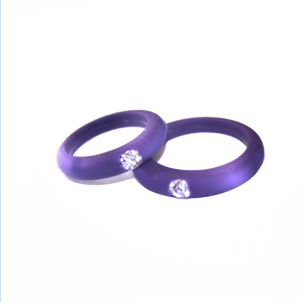 Women S Silicone Wedding Band With Rhinestone Safe And Durable Weddin Nak Fitness