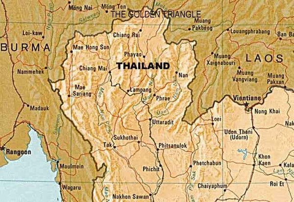 Thai Hill Tribe Silver Map