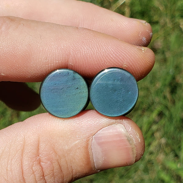 "Rainbow Obsidian Plugs - 13mm (1/2"")"