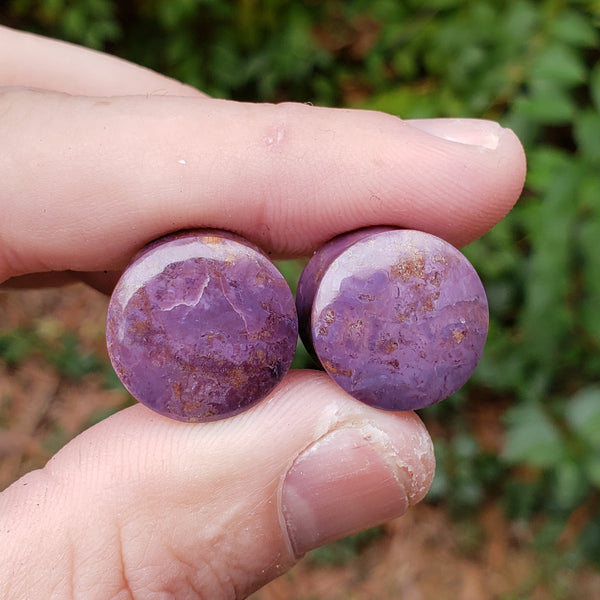 "Turkish Purple Jade Plugs - 16mm (5/8"")"