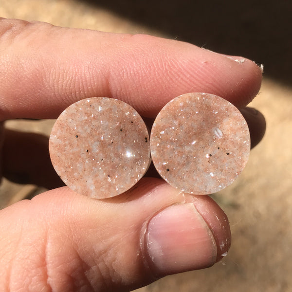 "Brown Sugar Druzy Plugs - 16mm (5/8"")"