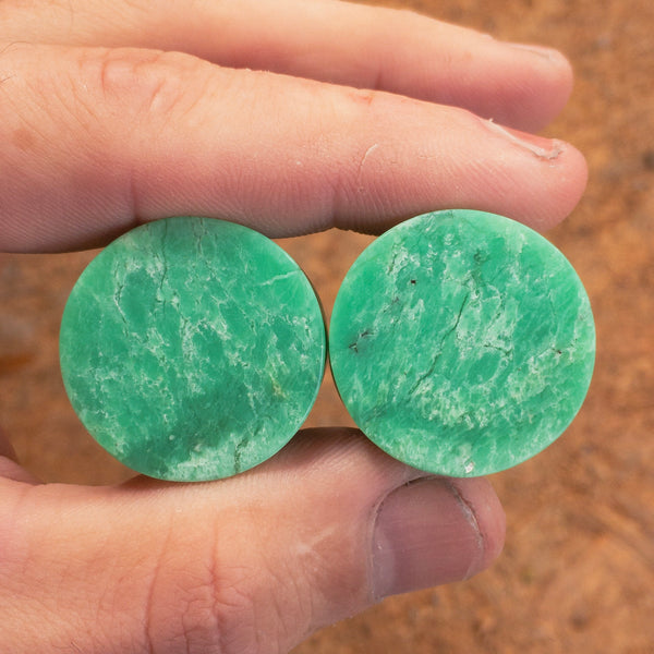 "Kenyan Chrysoprase Plugs - 26mm (1"")"