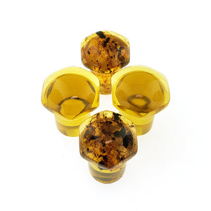 Chiapas Amber Single Flare Hexagon Plugs