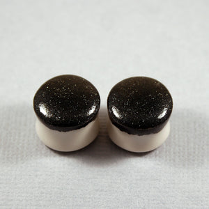Sparkle Black Porcelain Plugs