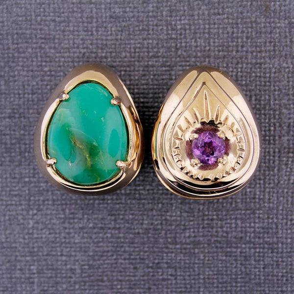 Weights - Dharma - Chrysoprase And Faceted Amethyst