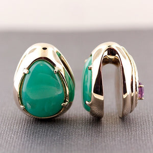 Weights - Dharma Reversible Ear Weights - Jadeite + Garnet