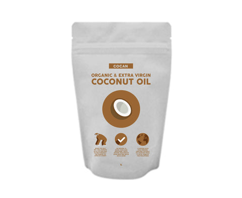 Organic Extra Virgin Raw Coconut Oil - 1 Month Supply