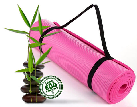 Bodhivana High Density, Eco Friendly Yoga, Pilates and Exercise Mat PINK