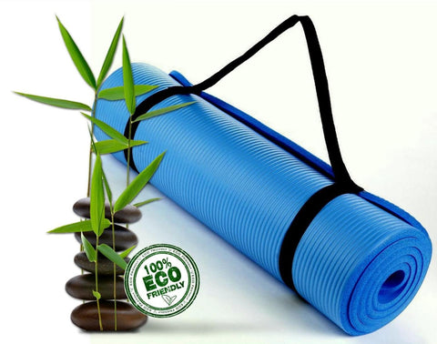 Bodhivana High Density, Eco Friendly Yoga, Pilates and Exercise Mat BLUE