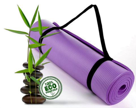 Bodhivana High Density, Eco Friendly Yoga, Pilates and Exercise Mat PURPLE