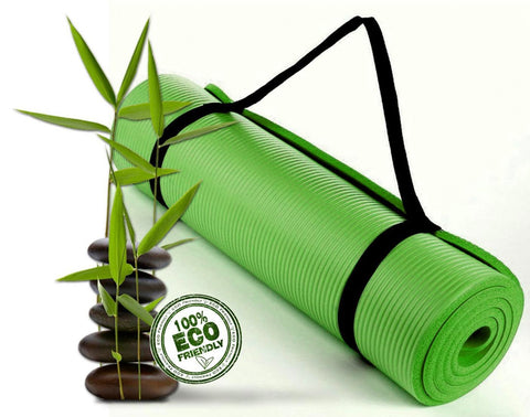 Bodhivana High Density, Eco Friendly Yoga, Pilates and Exercise Mat GREEN