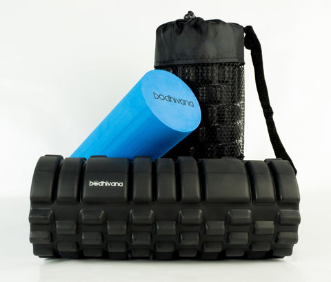 2-in-1 Bodhivana Exercise Foam Roller (Blue)