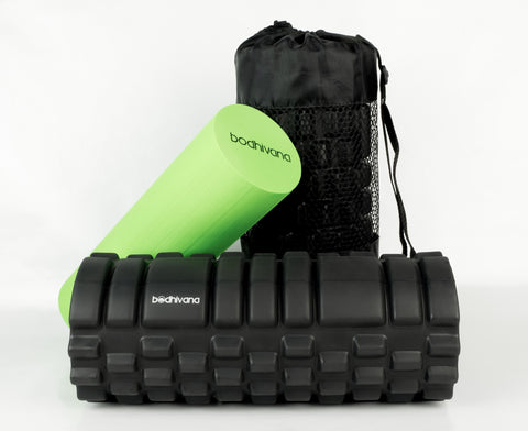 2-in-1 Bodhivana Exercise Foam Roller (Green)