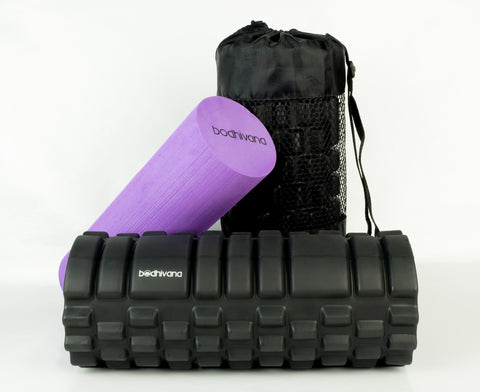 2-in-1 Bodhivana Exercise Foam Roller (Purple)