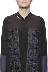 Okishi Silk Tunic with Ribbon Details