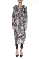 Bitte Kai Rand Printed Tunic Maxi Shirt Dress
