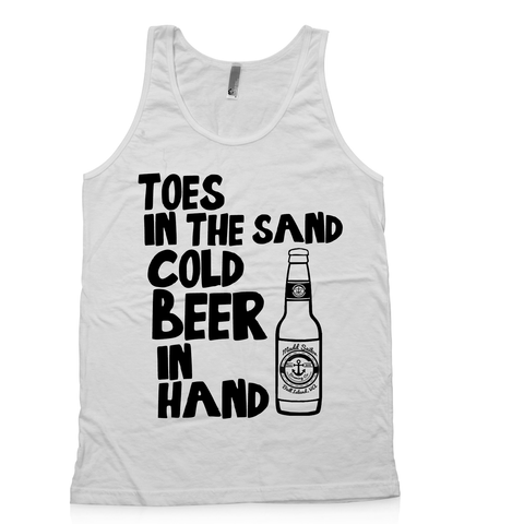 """Beer in Hand"" adult tank ( 4 colors )"