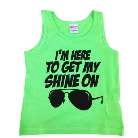 """shine on"" adult tank ( 4 colors )"