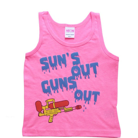 """Suns out Guns out"" adult tank ( 3 colors )"