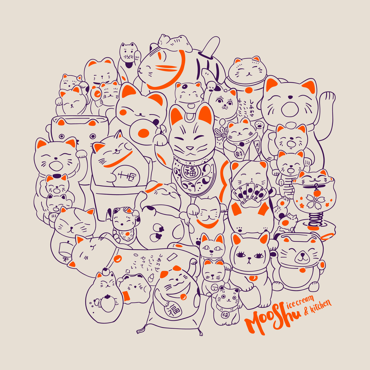 T-Shirt: Cat Crowd