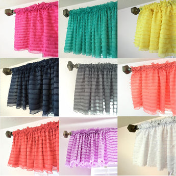 Ruffle Valances - From Pink to Purple and Every Color In Between