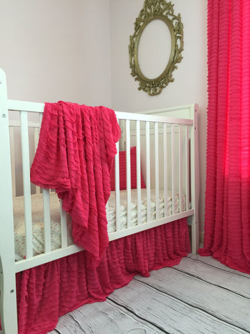 Hot Pink Ruffle Nursery Baby Bedding