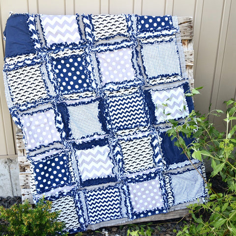 Toddler Quilt Size Rag Quilt by A Vision to Remember