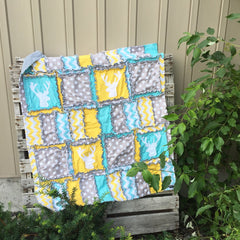 Rag Quilt Crib Bedding