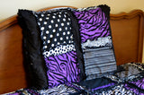 Rag Quilt Pillow Sham - Pick Your Own Colors / Fabrics - Crib Bedding - A Vision to Remember
