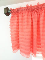 Light Coral Ruffle Valance - Extra Wide Sheer Window Curtain - A Vision to Remember